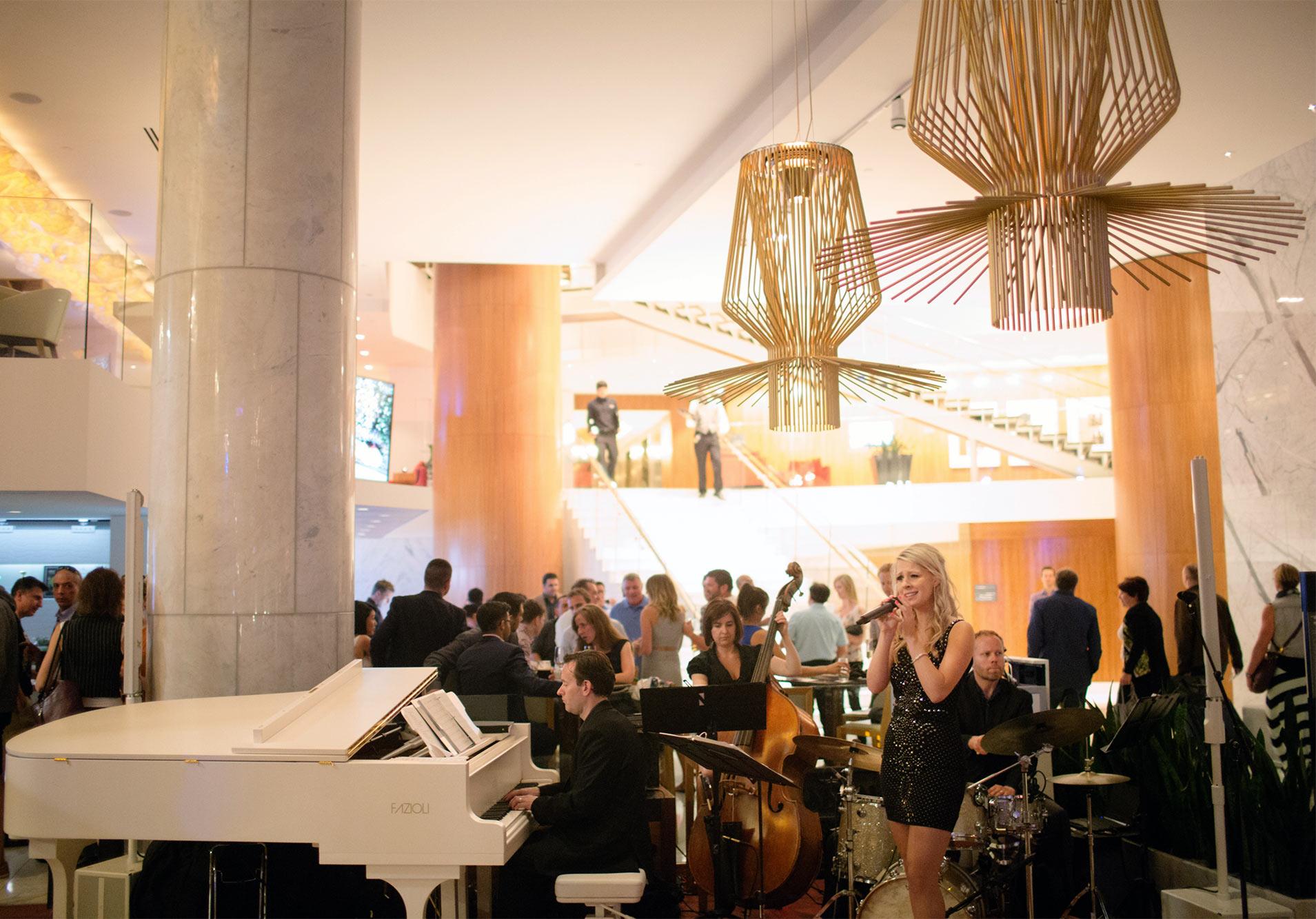 Music Lobby Lounge Rawbar Fairmont Pacific Rim